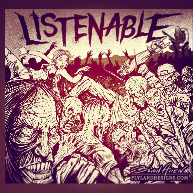 Here are my inks for the Listenable Records sampler album cover. Let me know what you think!
