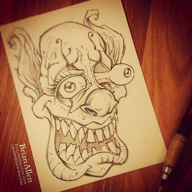 You know, for kids.Illustration by Brian Allen www.flylanddesigns.com #art #evilclown #clown #illustration #instaart #instaartwork #instaartist #instaartpop #artist #artshow #creative #artwork #followme