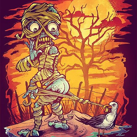 This seems to be everyone's favorite of the Halloween at the Beach series of art prints I created.  Love the idea.#mummy #beach #mangastudio #photoshop #illustration #tshirt #art #instaart #instaartist #picoftheday #igdaily #followme