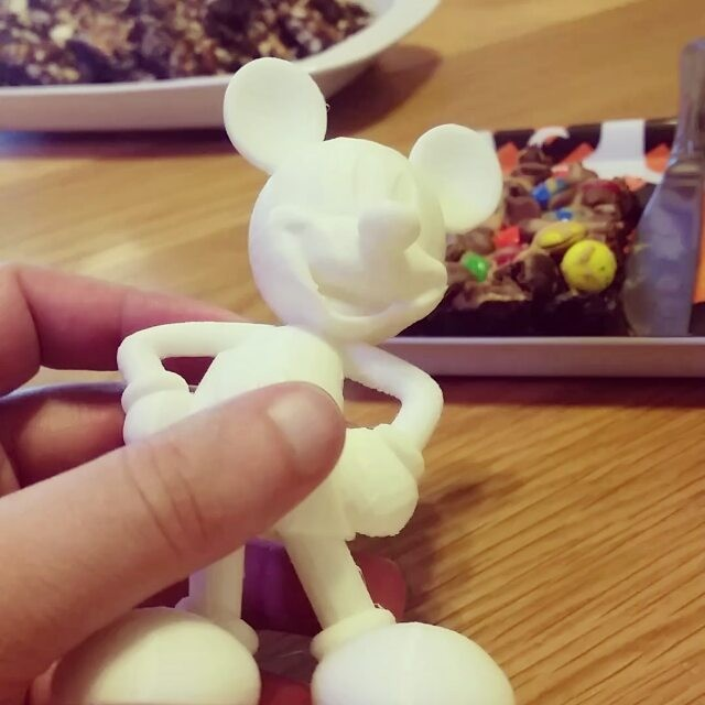 My pal Rusty Myers made this awesome Mickey with a 3D printer.  don't tell the Big D!#3dprint #toy