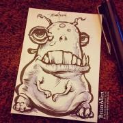 Fat little creature ink stetch