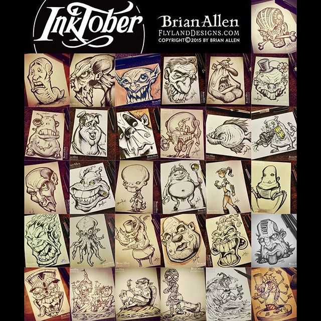 Special thanks to everyone who followed my progress through Inktober.  I created 31 ink drawings this month!Check out the whole series here:https://www.flylanddesigns.com/inktober-2015-brian-allen/#inktober #ink #sketch #brush #blackandwhite #art #instaartist #brianallen