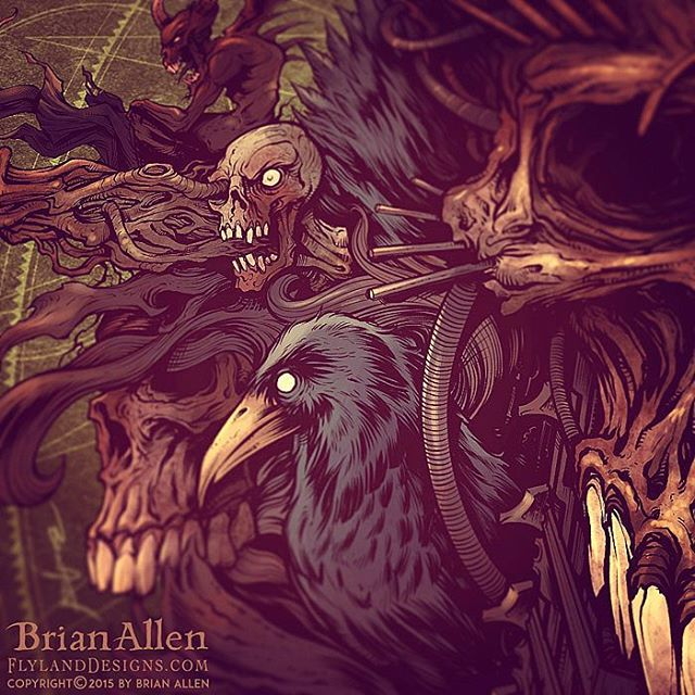 Here's a detail shot of this album cover I designed for the Brazillian heavy metal band, John Wayne (named after the serial killer, not the cowboy!). #albumcover #metal #heavy #mangastudio #photoshop #illustration #art #instaart #instaartist #picoftheday #igdaily #followme