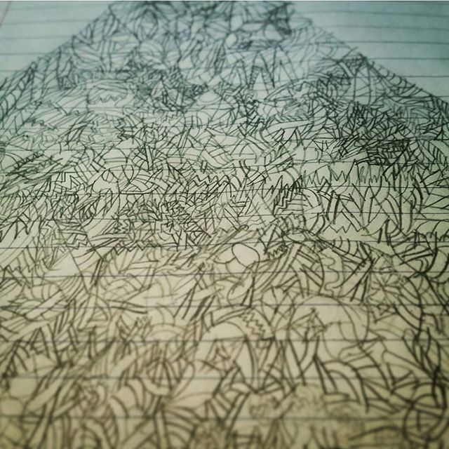 My 7 year old son michael was drawing this all over his notebook. Loved it. He covered like 6 pages with this stuff. It made me realize that even though I draw every day, it'd been a long time since I just sat down and drew NOTHING. I need to make time for that