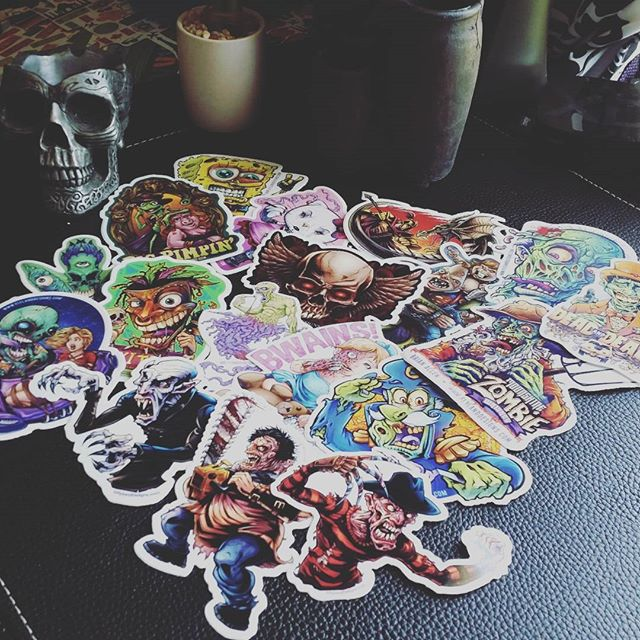 Someone  from Sweden just ordered a ton of stickers from my store!I am very excited!