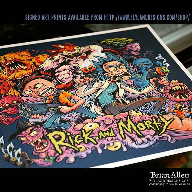 Awesome news! My artwork was hand-picked by the creators of Rick and Morty to be printed as one of three official t-shirts they are releasing soon! I had 100 high-quality signed art prints made to pawn at conventions I'll be attending - you can grab one here:http://www.http://FlylandDesigns.com/product/ricky-and-morty/Illustrated by Brian Allen, FlylandDesigns.com#rickandmorty #print #poster #mangastudio #photoshop #illustration #tshirt #art #instaart #instaartist #picoftheday #igdaily #followme