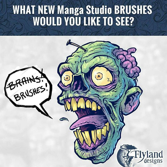 I'm finishing up a new big batch of brushes for Clip Studio Paint available in October.What new brushes would you like to see that weren't in the first set, or are lacking elsewhere?  Would love to hear your ideas - thank you!#mangastudio #clipstudio #brushes New Artwork From Instagram