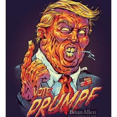 This debate is like watching my grandparents fight at the dinner table.#debate #trump #weresofucked New Artwork From Instagram