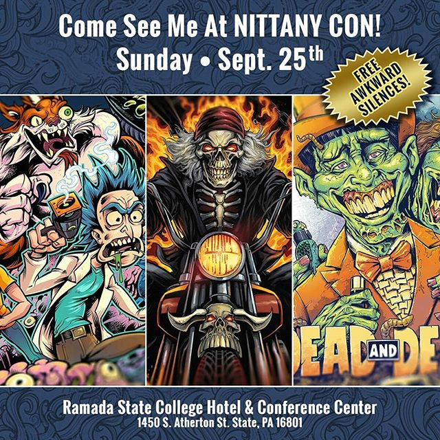Please come out and see me and a bunch of really talented artists at #NittanyCon Sunday - Free Awkward Silences! #comic #convention New Artwork From Instagram