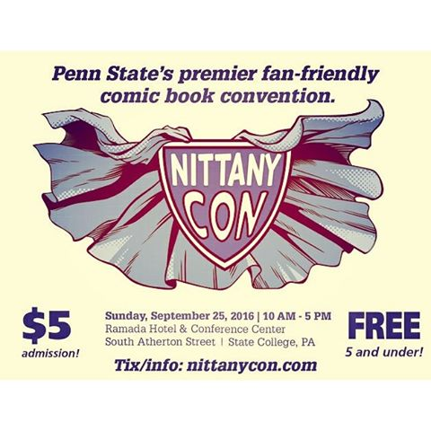 I'll be pawning my artwork at Nittany Con this Sunday - please come on out and say hey if you live near State College PA!#nittanycon #convention #art #comics New Artwork From Instagram