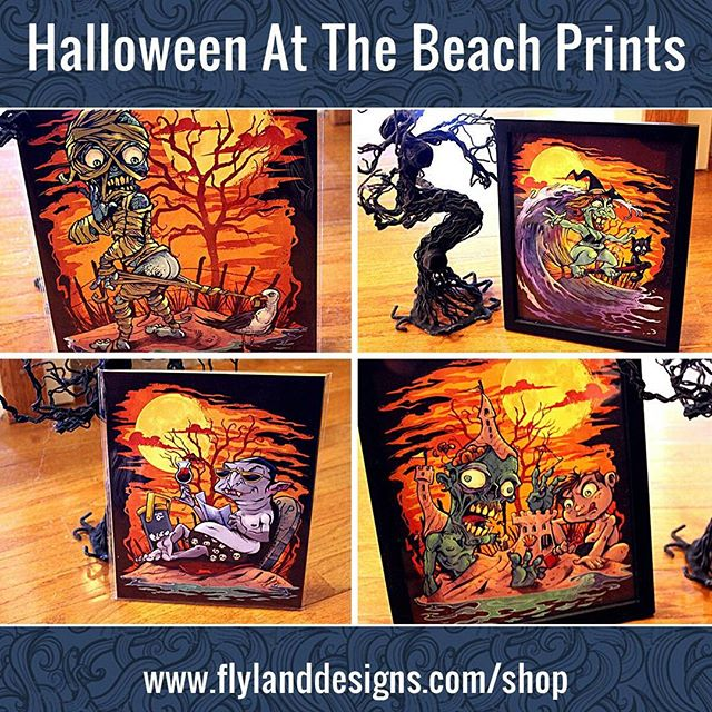 I have a few of these halloween signed art prints left over from last year - thanks to everyone for the positive feedback on these. Check them out at https://www.flylanddesigns.com/shop/ New Artwork From Instagram