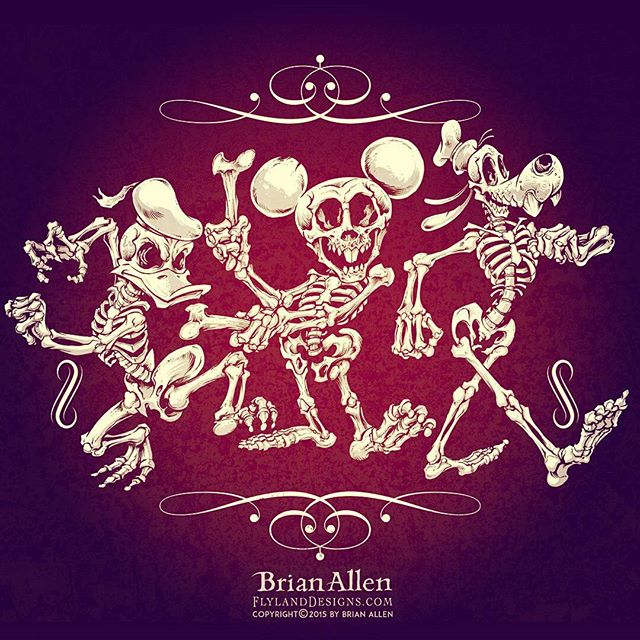 My disney skeleton design was picked to be featured on Tee Villain tomorrow November 1st! So thrilled about this, it's my first shirt to be picked by that site. You can grab it tomorrow but ONLY tomorrow at TeeVillain.com. #teevillain #tshirt #disney #halloween #skeletons #funny New Artwork From Instagram