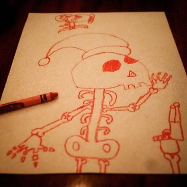 Merry Christmas! Spending the whole week with family and it's been great so far. much needed.  Michael drew this tonight, and hopefully it will be the only thing drawn in my house all week! New Artwork From Instagram