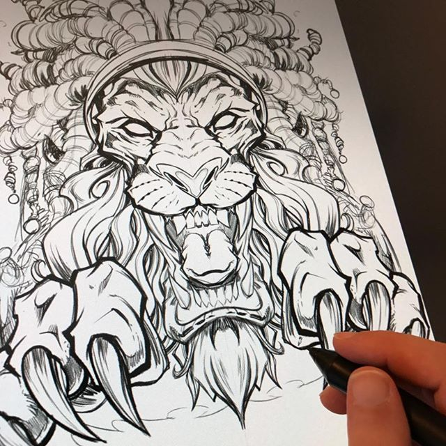 John a lion with dreadlocks and having a pretty good time doing it #art #clipstudiopaint New Artwork From Instagram