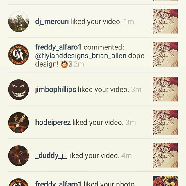 Jimbo Phillips liked a video of mine on Instagram!! Time to retire.⠀#psychofan New Artwork From Instagram
