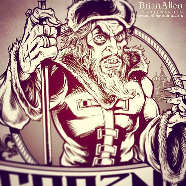 """Drawing Ivan the Terrible for a logo design - If the """"Terrible"""" stood for terrible fingernails, teeth, and permanently arched eyebrows.⠀#art #illustration #russ #logo #freelance #FlylandDesigns New Artwork From Instagram"""