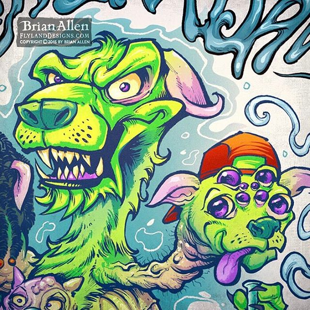 Detail of a t-shirt I illustrated with a Pentel Brush Pen on paper and colored digitally with Manga Studio.  I've got a process video coming out of this as well.  One of my favorite designs of the year, no question.⠀#art #illustration #tshirt #chemdawg #marijuana #weed #freelance #FlylandDesigns New Artwork From Instagram