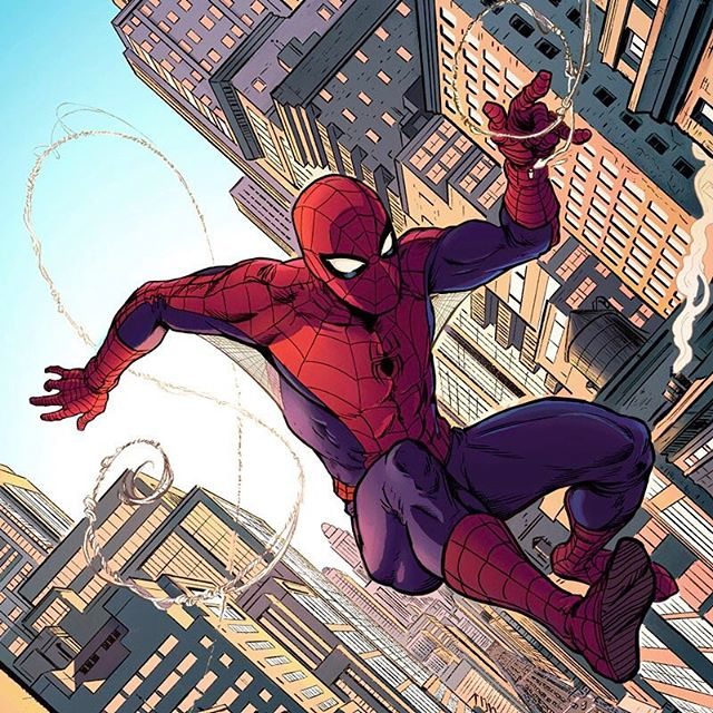 "This awesome #SpiderMan #artwork was created by the talented #JasonPiperberg.  Please go check out his work, it's really inspiring.  Jason was kind enough to recommend my #ClipStudioPaint #brushes and had some nice things to say: ""The inking and texture brushes specifically have opened up new avenues for my work, and were worth every penny. "" - Jason Piperberg New Artwork From Instagram"