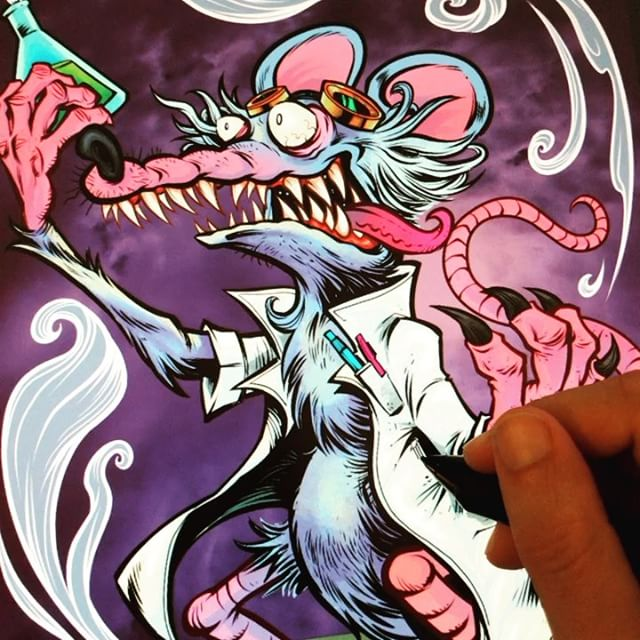 FInishing up a lab rat mascot for a fun company - this is the kind of fun stuff I save for Friday afternoons.#art #mangastudio #rat #mascot #cartoon #illustration #hashtagsarehardtocomeupwith New Artwork From Instagram