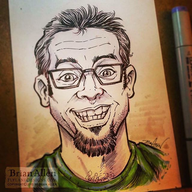 Quick self-portrait I drew a while back. Need a tan.⠀Illustrated by Brian Allen#art #illustration #freelance #FlylandDesigns New Artwork From Instagram