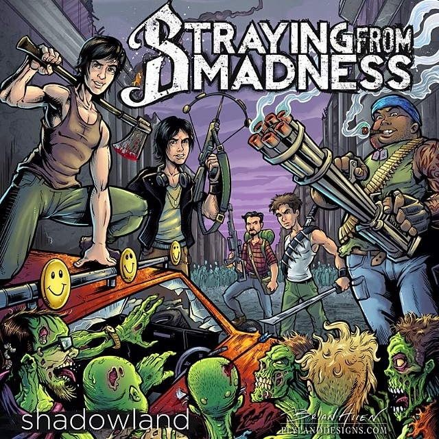 This was an album cover I designed for Mexico City metal band, Straying from Madness.