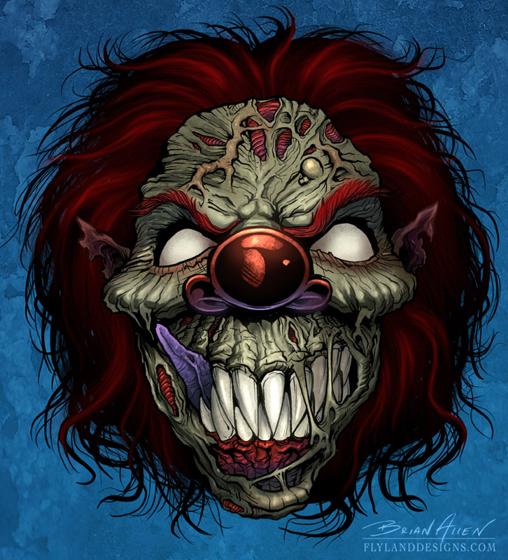 Evil Clown Flyland Designs, Freelance Illustration and Graphic ...