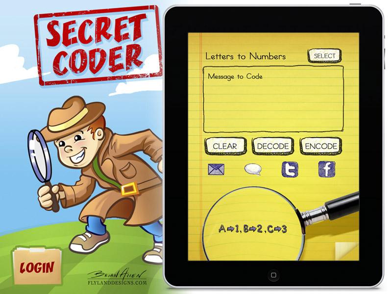 iPad app graphic design for children's game
