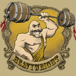 T-Shirt illustration of a classic weight lifter