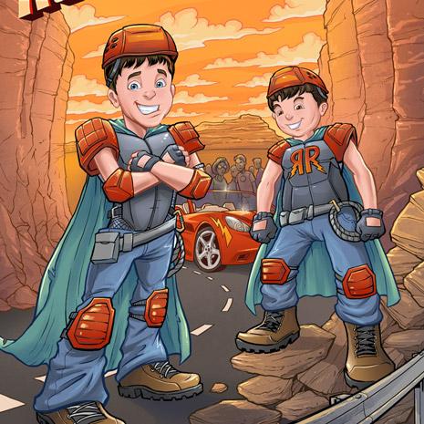 Custom book cover for a children's book