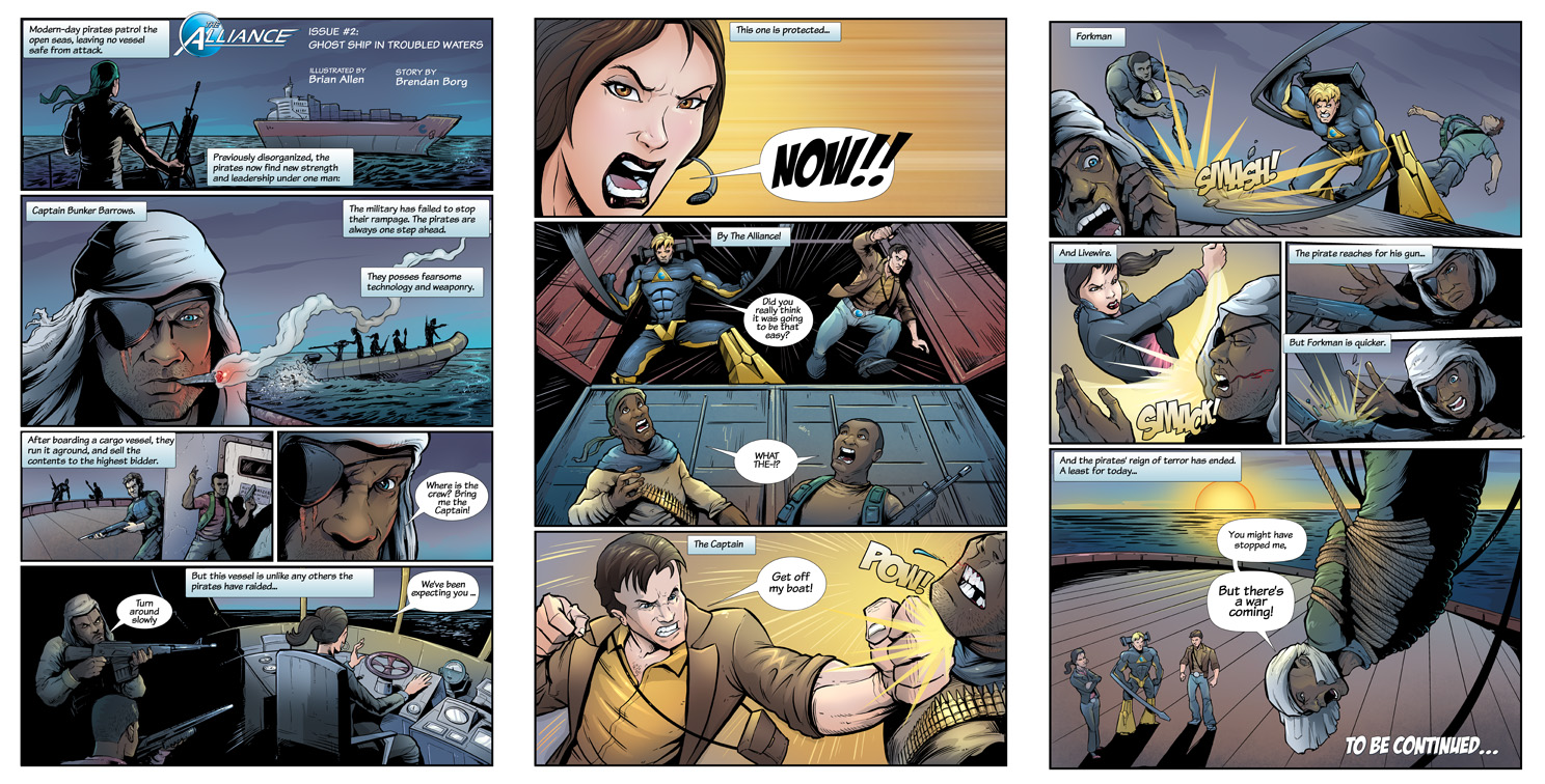 Consol Alliance comic book coloring process