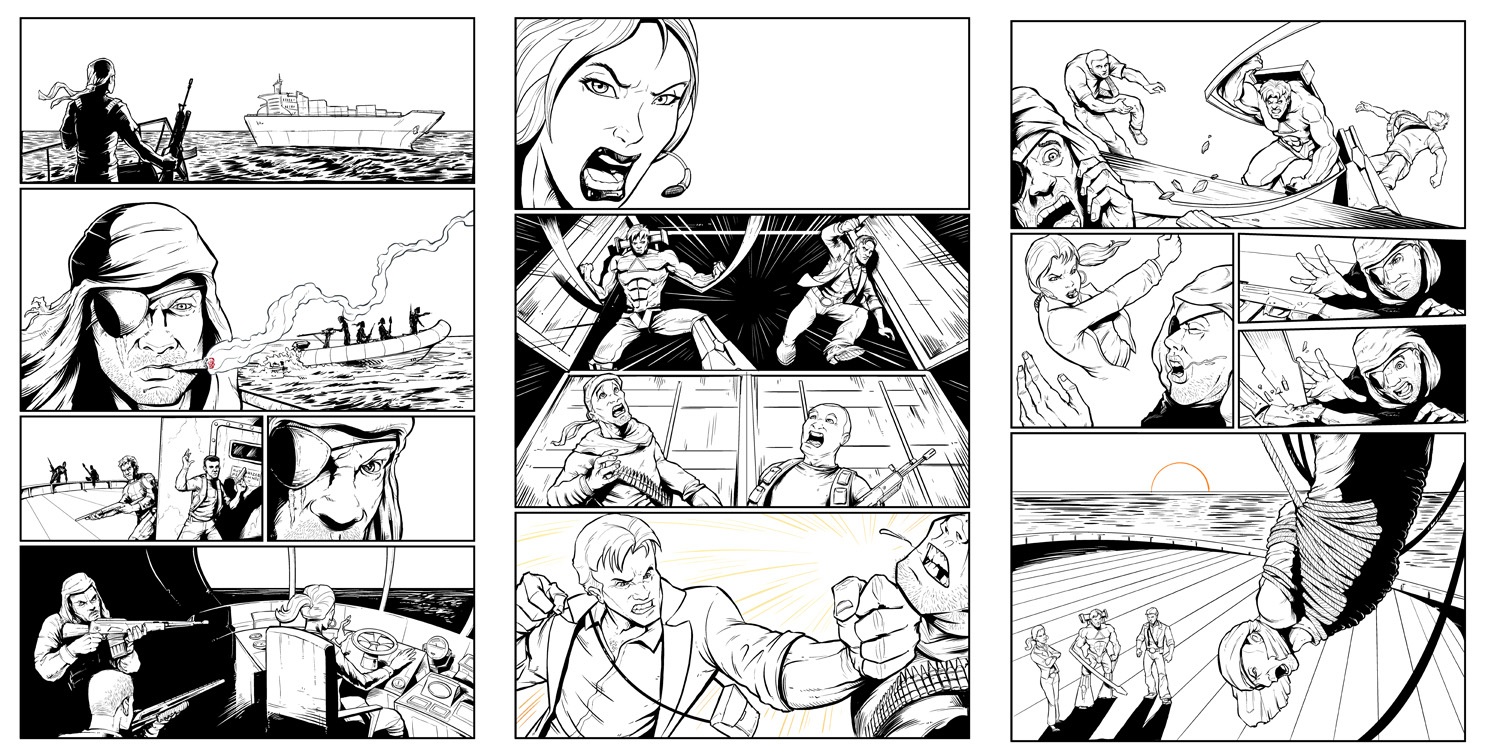Comic Book Cover Tutorial Illustrator : Comic book art tutorial flyland designs freelance
