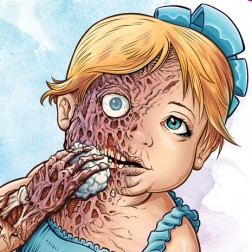 Illustration of a young girl zombie