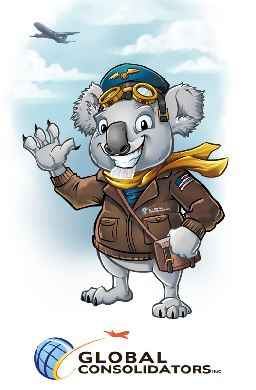 Global Consolidators Koala Mascot