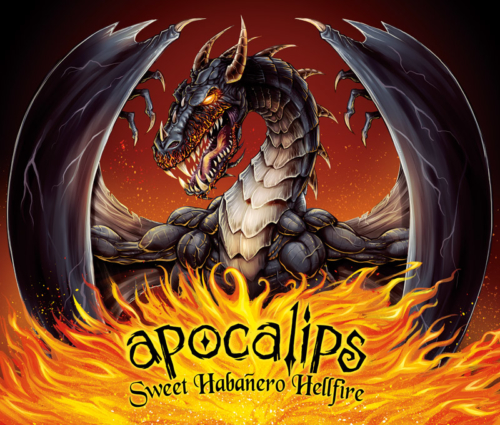 Apocolips Hot Sauce Packaging