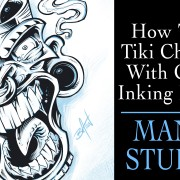 Digital inking tutorial in Manga Studio 5 with commentary