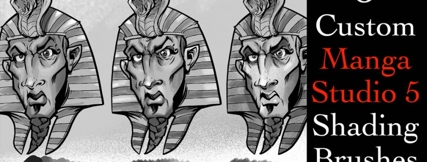 I created this set of over 100 custom brushes for Manga Studio 5 (Clip Studio Paint) available for download for only $2.99.    This video quickly walks you through each set of brushes and shows them in use.  Included in the pack are -14 Inking Brushes -18 Paint Brushes -12 Pencil Brushes -5 Shading Brushes -16 Splatter Brushes -20+ Special Pattern Brushes -22 Texture Brushes   The brushes are useful for all styles of illustration.  As a freelance digital illustrator, I use them primarily for Comic Book illustration, t-shirt design, logo design, character and concept illustration, sketching, and painting.