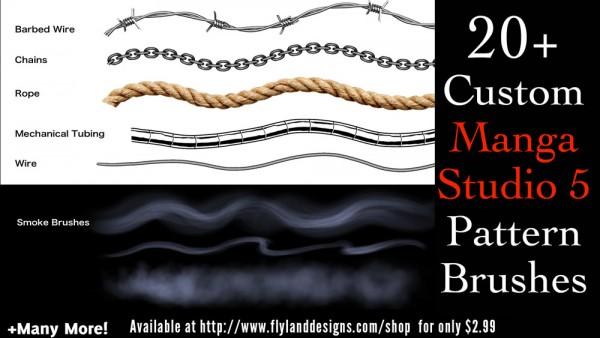 Custom pattern brushes for Manga Studio 5