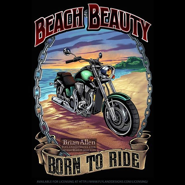 Bike rally #poster #template I illustrated of a #motorcycle on a #beach - originally created for the #Wasaga Beach rally last year. Available for licensing. #mangastudio #photoshop #illustration #tshirt #art #instaart #instaartist #picoftheday #igdaily #followme New Artwork From Instagram