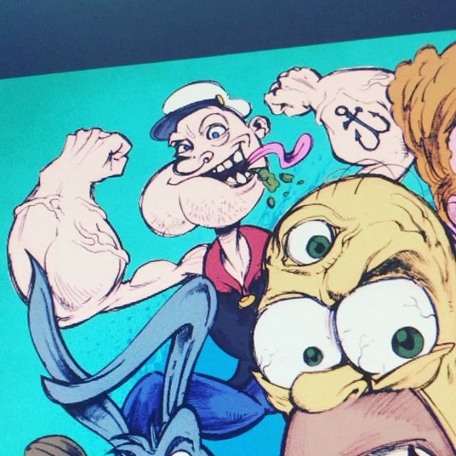 I'm coloring this LIVE on my YouTube and twitch channel right now!https://www.youtube.com/user/flylanddesigns#art #simpsons #cartoon #live #drawing New Artwork From Instagram