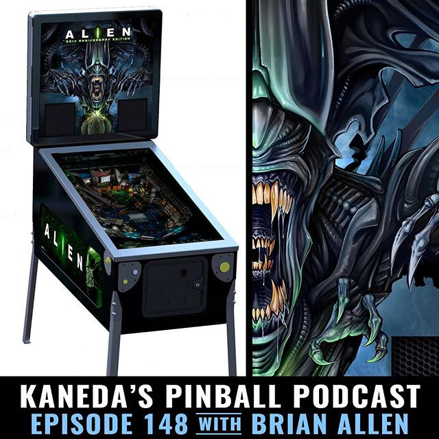 Kaneda's Pinball Podcast interviewed me last night about the process of working on the Alien LE backglass - very humbling experience that I'm truly grateful for. Thanks to the host Chris Kooluris for making me sound like I know what I'm talking about. True skill!⠀https://goo.gl/QiSwhv#pinball #alien #podcast #pinballart New Artwork From Instagram