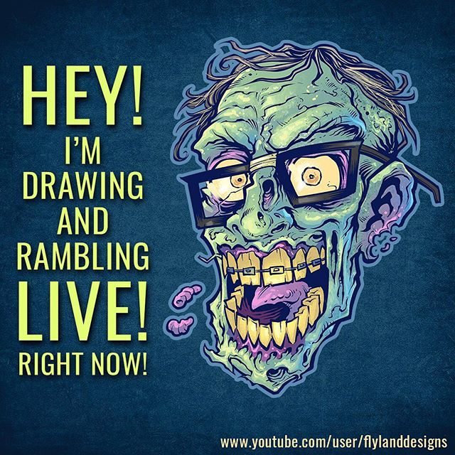 Hey guys, I'm sketching a zombie Chupacabra t-shirt design LIVE today at around 3PM EST because it's Friday! On YouTube and Twitch!