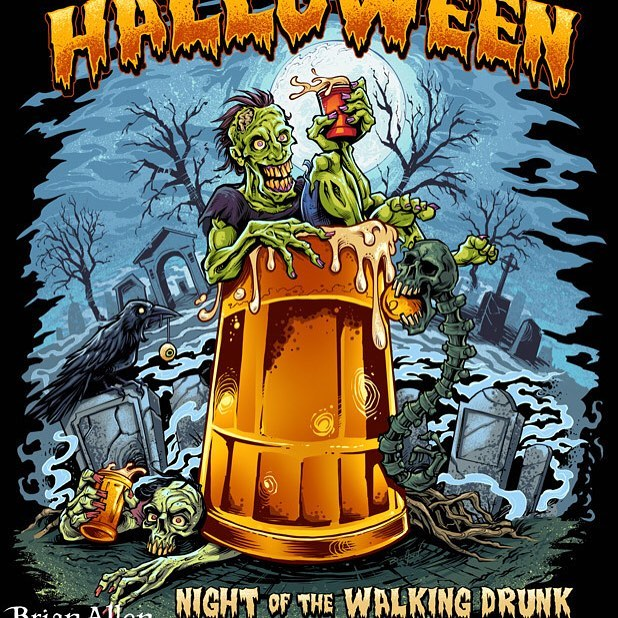 With halloween coming up, I thought I'd share this zombie beer mug t-shirt design I created for last season - this design is available for licensing if anyone is interested.⠀#art #illustration #tshirt #halloween #zombie #beer #licensing #freelance #FlylandDesigns