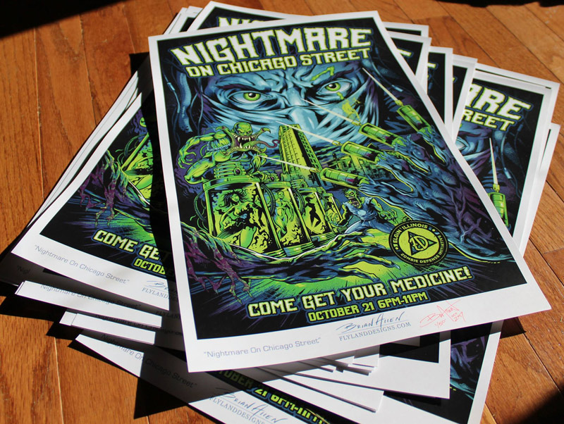 gig poster for the Nightmare on