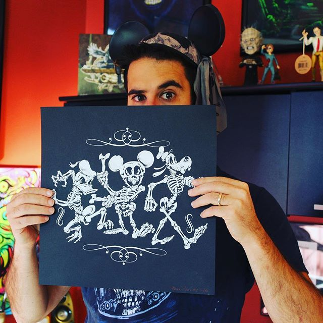 Thanks so much for all the hugely positive feedback on my #Disney #skeleton parody #silkscreen #print. Pick one up in my shop, I think I have about 20 left!