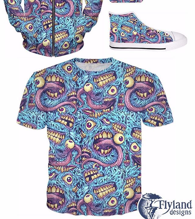 Really happy to share this eyeball and teeth pattern I created for all-over print apparel and products - please check it out in my RageOn shop https://www.rageon.com/a/users/TheArtofBrianAllen#alloverprint #artwork #eyeballs #mosters #madballs
