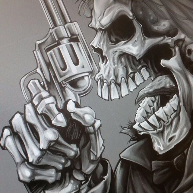 My progress on a digital painting I was working on in CLIP STUDIO PAINT for a company that creates 3D modelled artwork for gun barrels. Yep. #sketch #wip #pencildrawing #concept #illustration #freelanceartist #hire