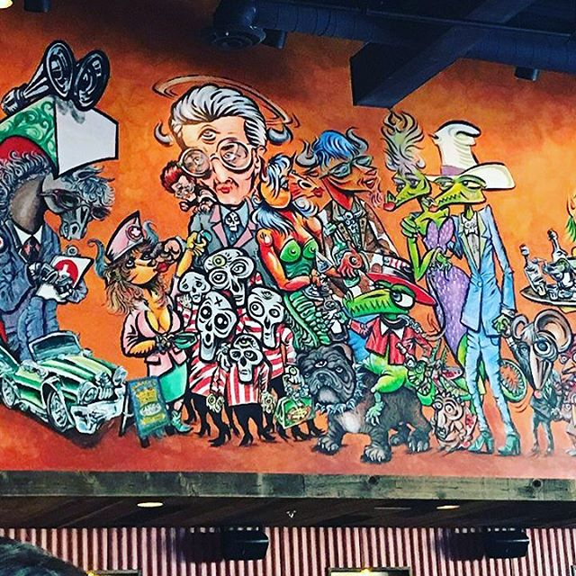 I saw this mural at a MadMex in Ohio - thought it was so amazing. Found out the artist was named Rick Boch - will definitely be checking out mroe of his work.