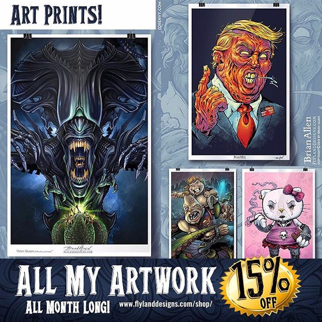 Fill that hole inside of you by buying more stuff! All my favorite artwork is availble as signed high-quality art prints from my website - and it's all on sale until the end of the month. Thanks for your support this year! https://www.flylanddesigns.com/shop/ #artprints #sale #artgift #darkartwork