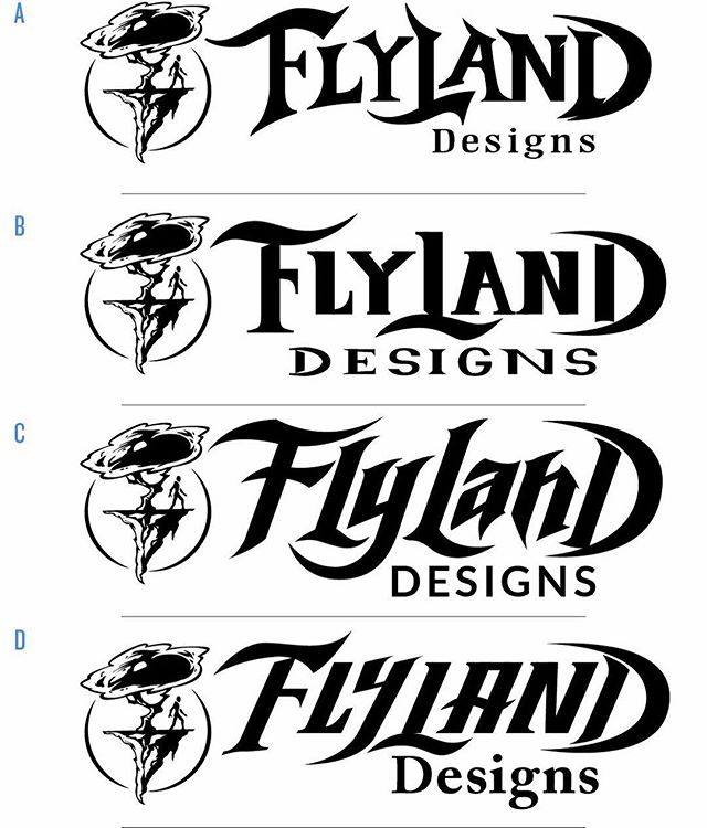 Hey guys, can you please help me redesign my logo? I'm trying to come up with something that is bolder so that it will make a nice clear watermark on my images. Do you have a favorite? See anything strange that could be improved? #logodesign #flylanddesigns