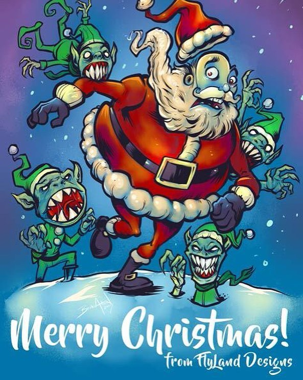 Merry Christmas to my friends, family, clients, and even my bitter enemies! This was something I drew with the new iPad Pro 12.9 using the new Clip Studio Paint app. At first I wasn't a big fan of it, but I'm starting to come around. Trying to decide if I should keep this or the Wacom Mobile Studio pro, got another week to tinker.